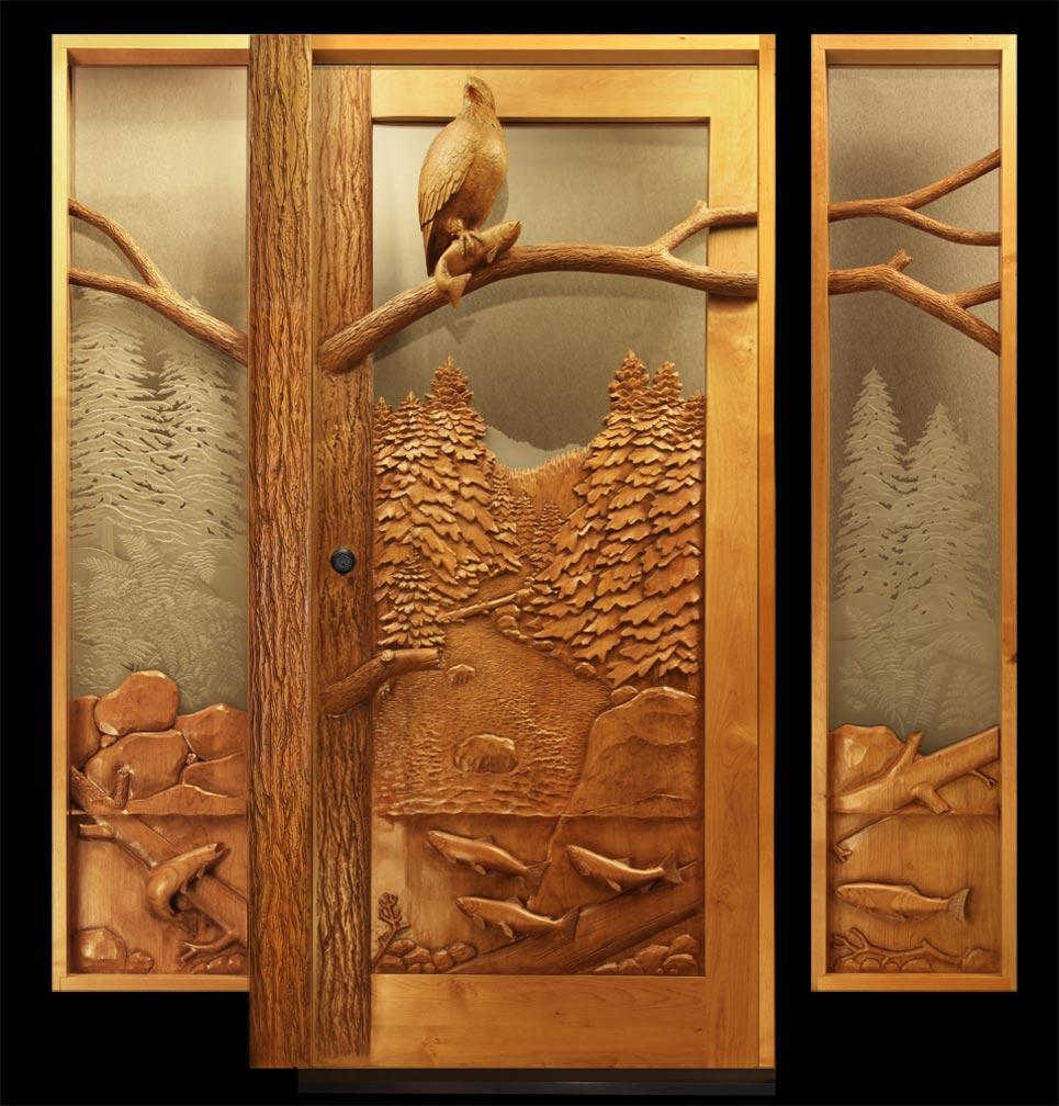 Carved Eagle Door